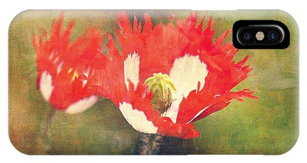 Danish Flag Poppies IPhone Case