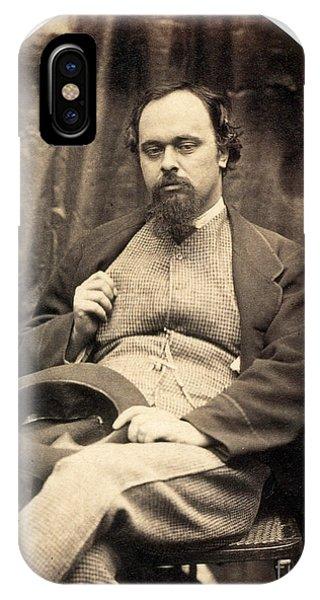 Pre-modern iPhone Case - Dante Gabriel Rossetti English Poet by Photo Researchers