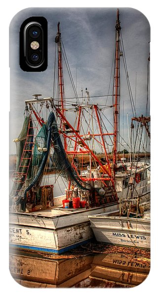 IPhone Case featuring the photograph Darien Boats by Greg and Chrystal Mimbs