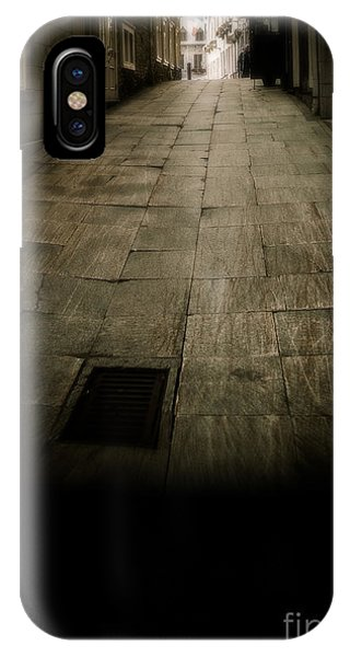 Quebec City iPhone Case - Dark Alley In Old Historic City by Edward Fielding