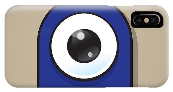 Dark Blue iPhone Case - Dark Blue by Samuel Whitton