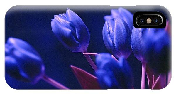 Dark Blue Tulips IPhone Case