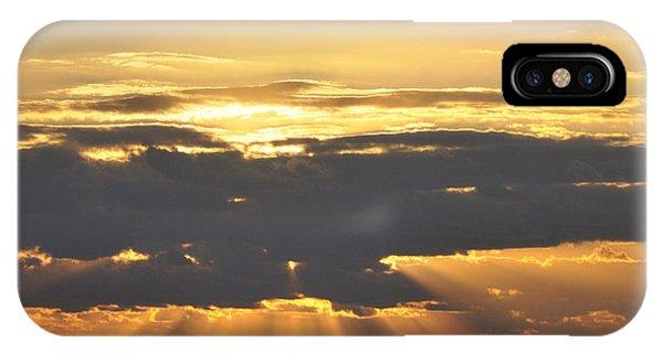 Dark Cloud Over Sea With Sunbeams IPhone Case