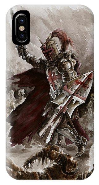 Dungeon iPhone Case - Dark Crusader by Mariusz Szmerdt
