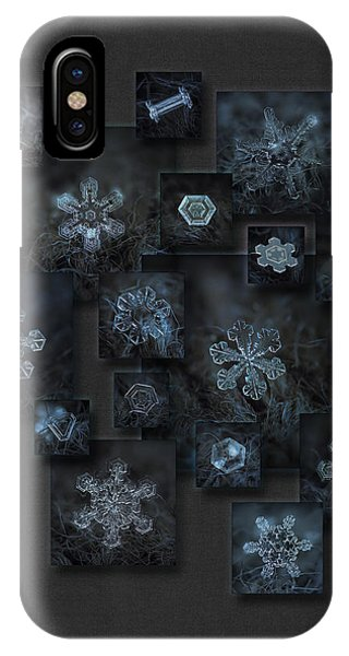 Snowflake Collage - Dark Crystals 2012-2014 IPhone Case