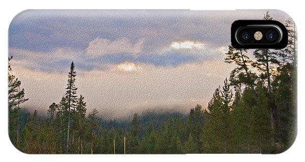 Dark Forest Morning IPhone Case