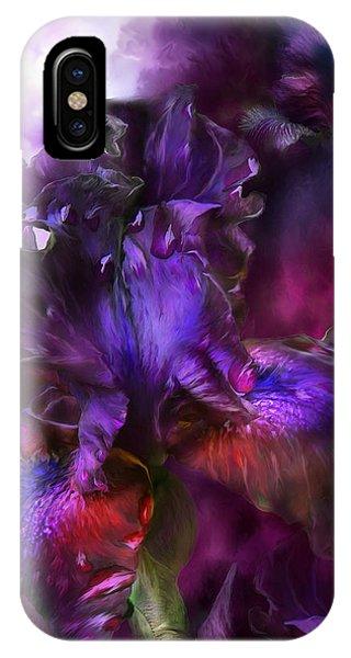 Dark Violet iPhone Case - Dark Goddess by Carol Cavalaris