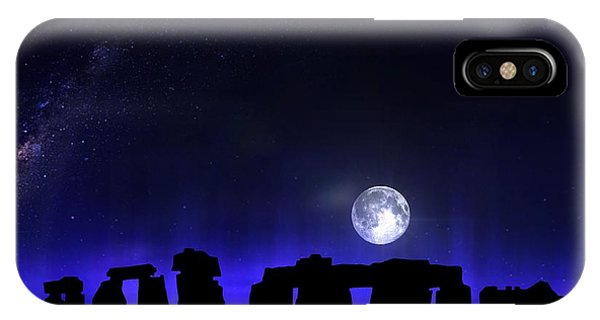 IPhone Case featuring the digital art Dark Henge by Mark Taylor