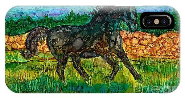 iPhone Case - Dark Horse by Alene Sirott-Cope