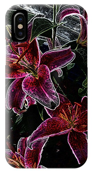 Dark Lillies IPhone Case