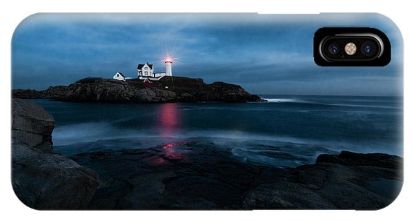 Dark Night At The Nubble IPhone Case