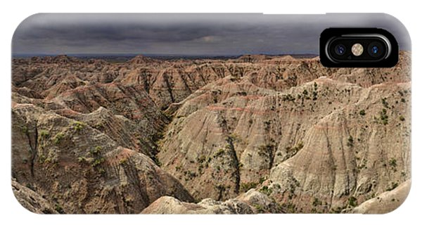 Dark Panorama Over The South Dakota Badlands IPhone Case