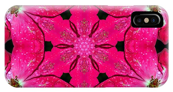 Dark Pink Splendor Mandala IPhone Case
