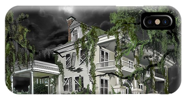 Dilapidation iPhone Case - Dark Plantation House by James Christopher Hill