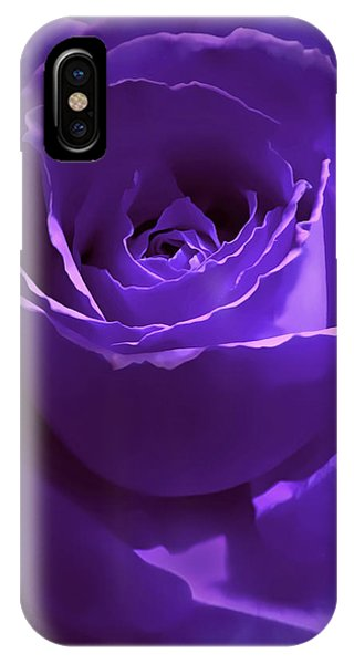 Dark Secrets Purple Rose IPhone Case