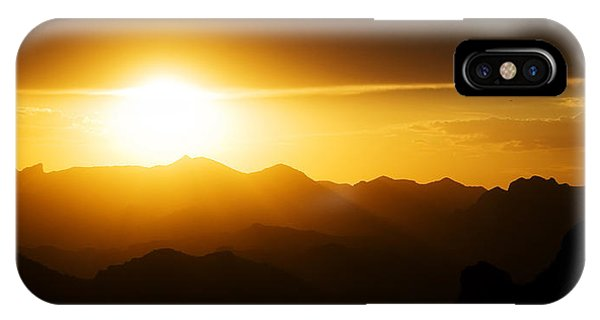 Dark Sunset Over The Matzatzals IPhone Case