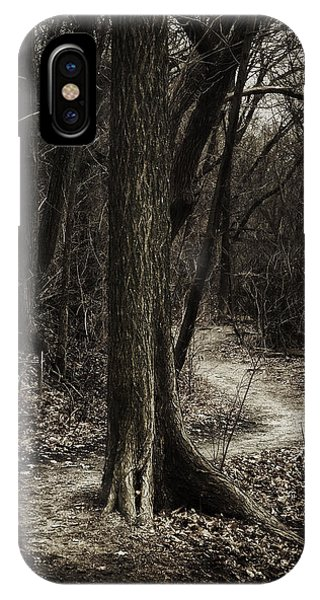 Monotone iPhone Case - Dark Winding Path by Scott Norris