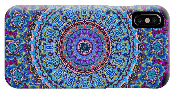 IPhone Case featuring the digital art Darren's Mandala by Joy McKenzie