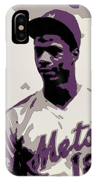 New York Mets iPhone Case - Darryl Strawberry Poster Art by Florian Rodarte