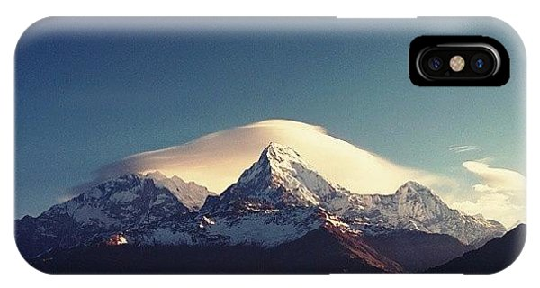 Beautiful Sunrise iPhone Case - #darshan #annapurna by Raimond Klavins