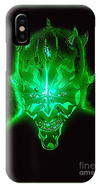 Darth Maul Green Glow IPhone Case