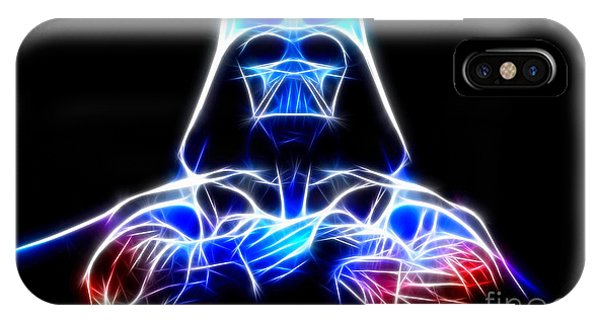 Fractals iPhone Case - Darth Vader - The Force Be With You by Pamela Johnson
