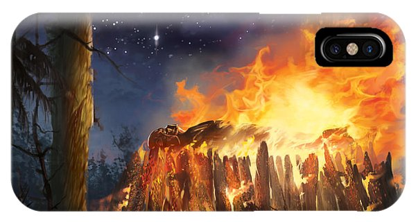 Darth Vader's Funeral Pyre IPhone Case