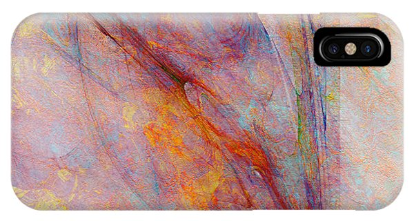 IPhone Case featuring the mixed media Dash Of Spring - Abstract Art by Jaison Cianelli