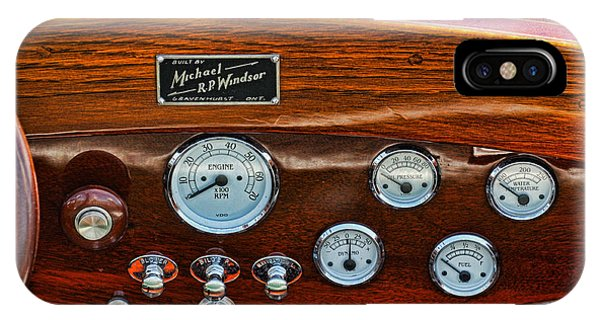 Dashboard In A Classic Wooden Boat IPhone Case