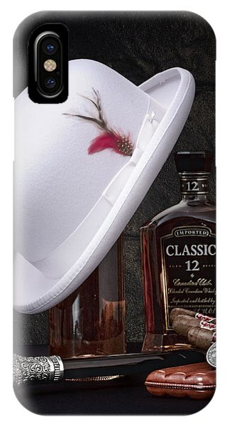 Whiskey iPhone Case - Dashing Young Man Still Life by Tom Mc Nemar