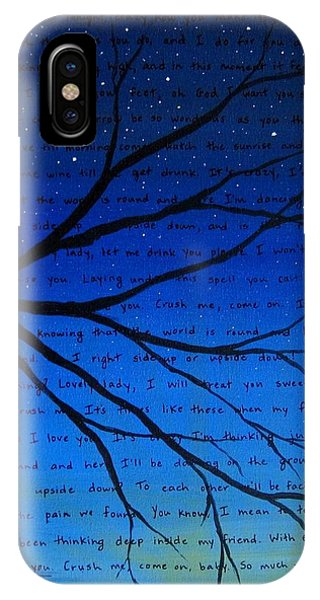 Dave Matthews Band Crush Song Lyric Art IPhone Case