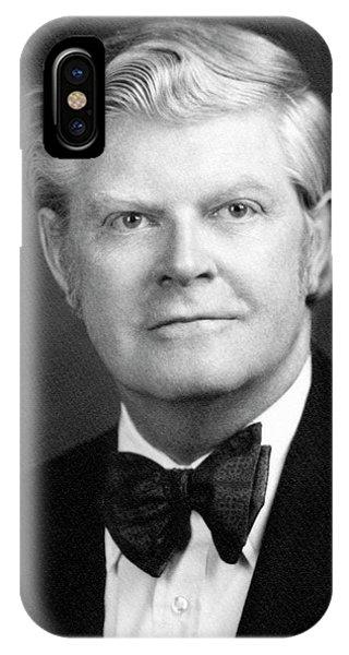 George Bush iPhone Case - David Allan Bromley by Emilio Segre Visual Archives/american Institute Of Physics