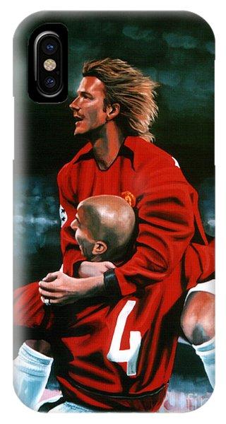 David Beckham And Juan Sebastian Veron IPhone Case