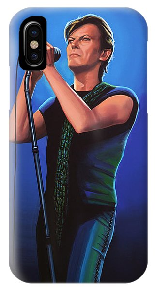 Popstar iPhone Case - David Bowie 2 Painting by Paul Meijering