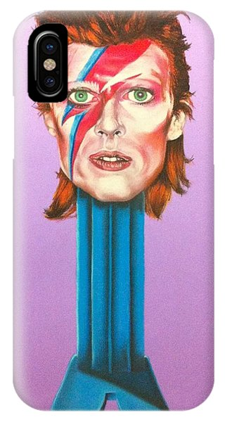 David Bowie Phone Case by Brent Andrew Doty