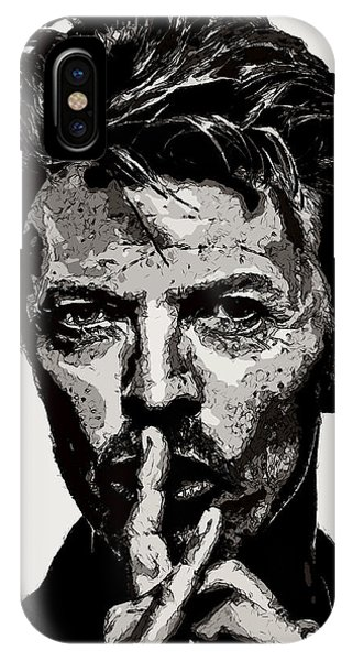 David Bowie - Pencil IPhone Case
