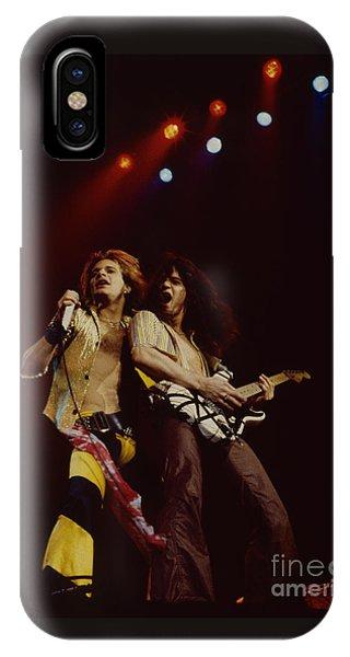 David Lee Roth And Eddie Van Halen - Van Halen- Oakland Coliseum 12-2-78   IPhone Case