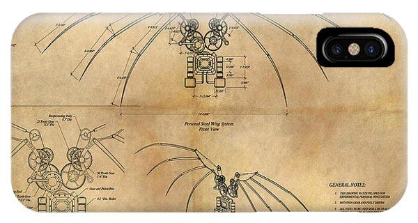 Davinci's Wings IPhone Case