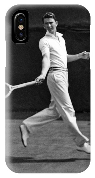 Racquet iPhone Case - Davis Cup Play by Underwood Archives