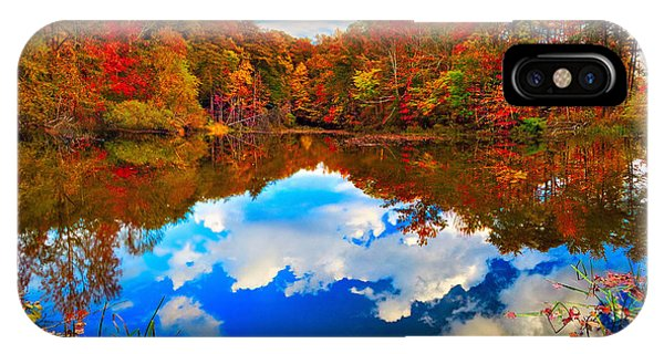 Davis Pond Reflections IPhone Case