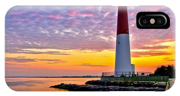 Long Beach Island iPhone Case - Dawn At Barnegat Lighthouse by Mark Miller