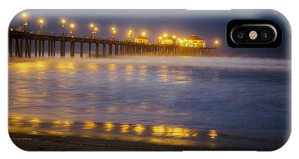 Dawn At Huntington Beach Pier By Denise Dube IPhone Case