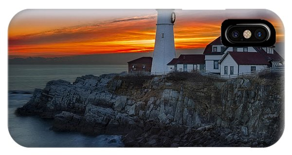 Dawn At Portalnd Head Light IPhone Case
