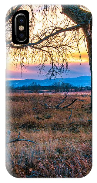 Setting Sun At Rocky Mountain Arsenal IPhone Case