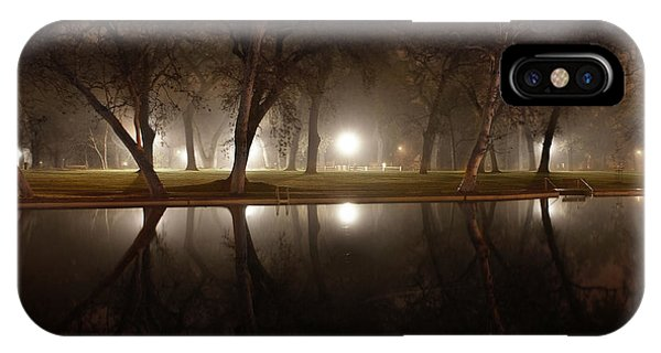 Dawn Mist Rising At Sycamore Pool  IPhone Case