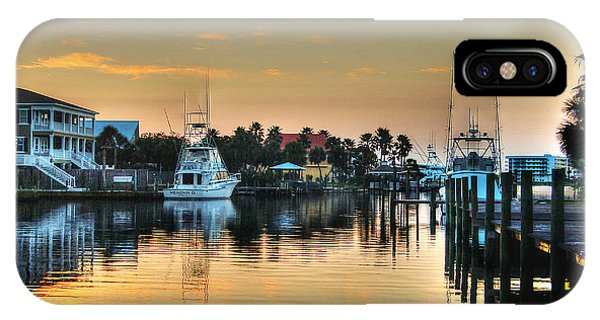 Dawn On A Orange Beach Canal IPhone Case