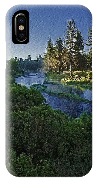 iPhone Case - Dawn On The River by Nancy Marie Ricketts