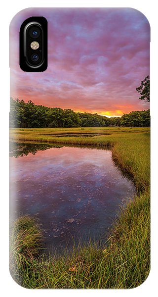 Tidal Marsh iPhone Case - Dawn On The Salt Marsh Along The Castle by Jerry and Marcy Monkman