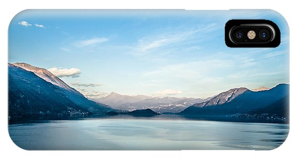 Dawn Over Mountains Lake Como Italy IPhone Case