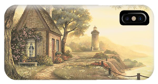 Lighthouse iPhone Case - Dawn's Early Light by Michael Humphries